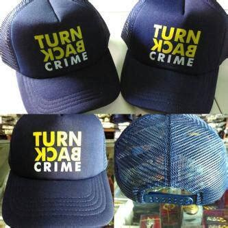 Kaos Topi Tbc jual topi tbc turn back crime navy model belakang jaring