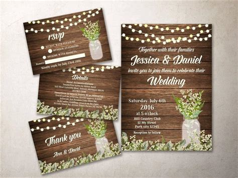 rustic printable wedding invitation kits wedding invitation kit printable rustic wedding