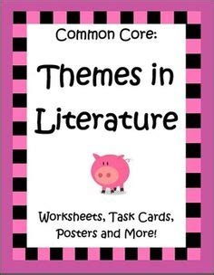 identifying themes in literature task cards on pinterest 112 pins