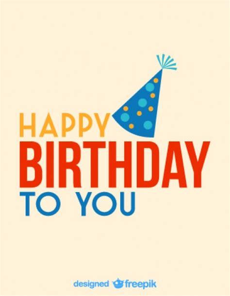 happy birthday design ai tarjeta vector de sombrero de fiesta de cumplea 241 os