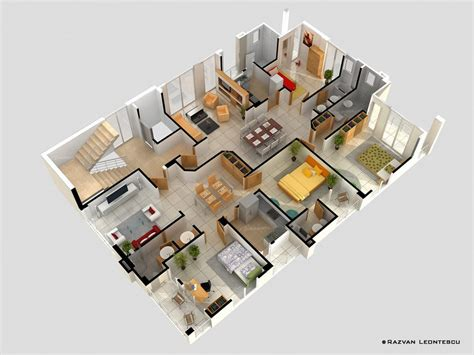 5 bedroom apartment floor plans 4 bedroom apartment house plans