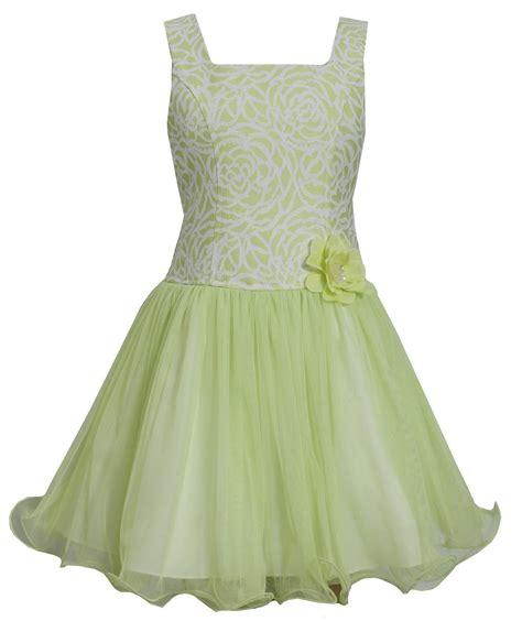 bonnie jean lime brocade dress