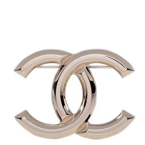 Metal Brooch chanel metal cc brooch gold 222522