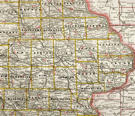 detailed map of iowa map of eastern iowa afputra