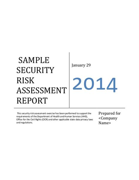 Meaningful Use Security Risk Analysis Template ehr meaningful use security risk assessment sle document
