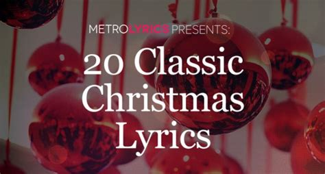 5 classic christmas songs the lyrics song 12 days of lyrics metrolyrics
