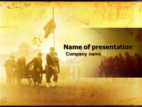American Civil War Presentation Template For Powerpoint And Keynote Ppt Star War Powerpoint Template