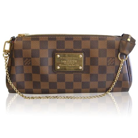 louis vuitton damier ebene eva clutch crossbody bag