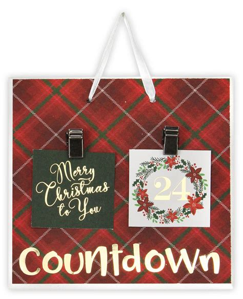 christmas countdown tile crafts direct