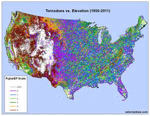 elevation map of us united states elevation map