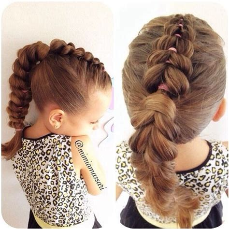 pull through braid easy hairstyles cute girls hairstyles pull through braid into a ponytail hairstyle pinterest