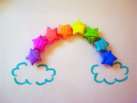 How To Make A Paper Rainbow - origami rainbow by beginthebegin on deviantart