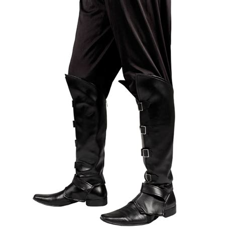 mens black boot top covers pan