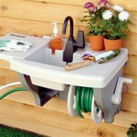 outdoor sinkno plumbingkind  awesome rubbermaid