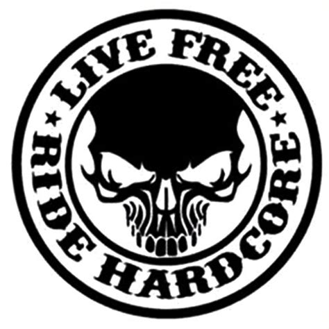 Kaos Bikers Pin Cor Ride Or Die vinyls vinyl decals and live free on