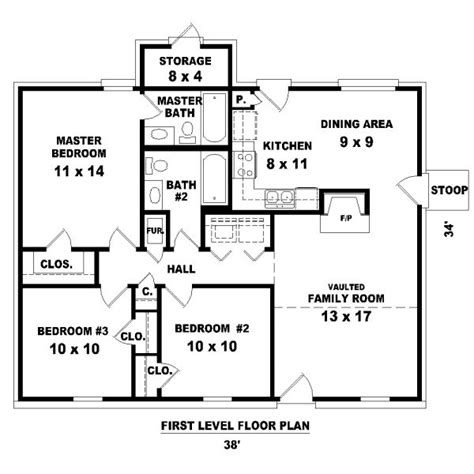three bedroom house plans 1112 square 3 bedrooms 2 batrooms on 1 levels