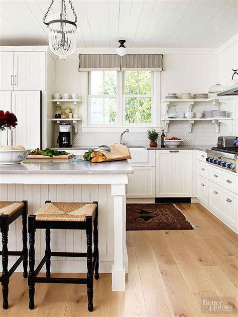 white kitchen farm mini makeovers to add farmhouse style bead board