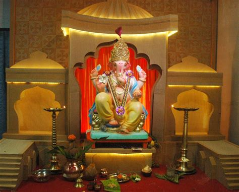ganpati decoration at home ganpati decoration ideas for home card boards