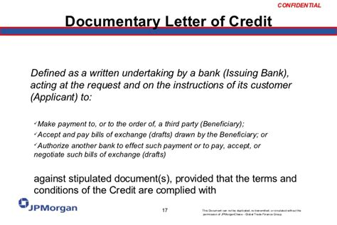 Letter Of Credit Drawee Bank Letter Of Credit 101