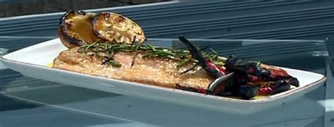 Berry Chicken Recipes Saturday Kitchen by Barbecue Smoked Sea Trout With Burnt Lemon Miso And