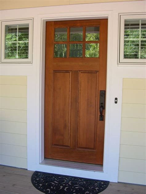 How To Stain Front Door Front Entry Cottage Style Stained Front Door Troxel Custom Homes Front Doors