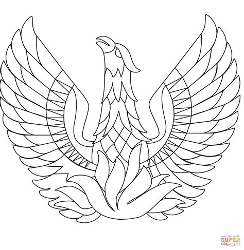 coloring pages phoenix bird phoenix bird coloring page free printable coloring pages