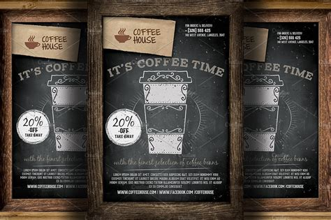 coffee shop promotion flyer template flyer templates