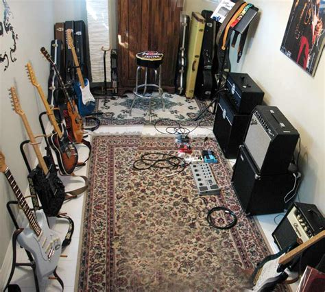 spare bedroom man cave a tiny room but the rug makes it guitar room home