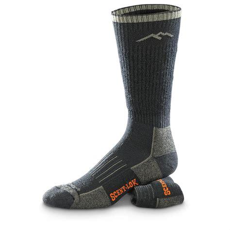 scent lok boots darn tough scent lok 174 cush wool boot socks charcoal