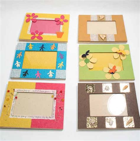 How To Make Paper Photo Frames - handmade paper crafted picture frame picture frames
