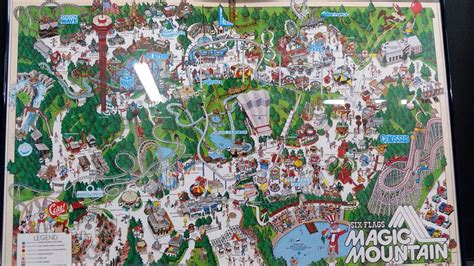 six flags magic mountain map new rollercoasters 2016 autos post