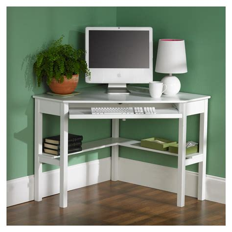 Modern Corner Office Desk Modern White Corner Computer Desk For Home Studio Design Gallery Best Design