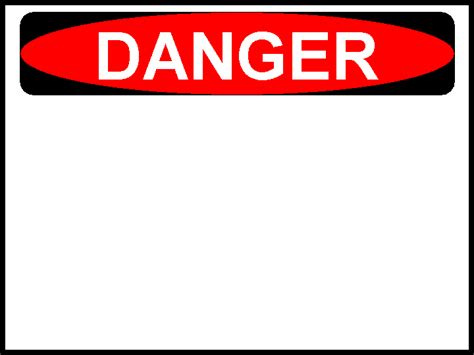 safety sign templates danger sign cliparts co
