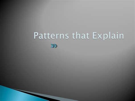 pattern of organization generalization and exle patterns of organization part 1