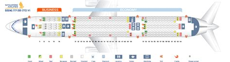 seat map boeing 777 200 singapore airlines best seats in