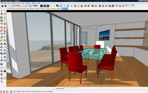 sketchup layout wireframe architectural rendering with sketchup and kerkythea v