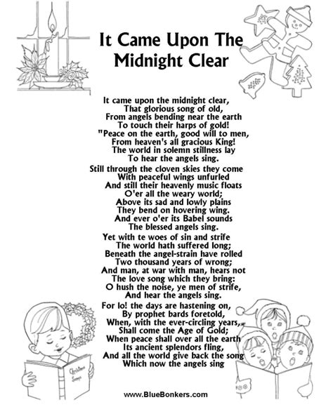 printable christmas carol song lyrics songs lyrics picture and images