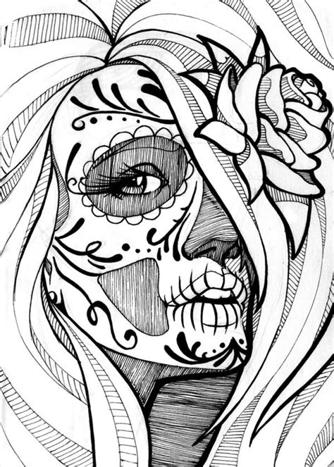 cartoon skull coloring page 311 best skull day of the dead coloring images on pinterest