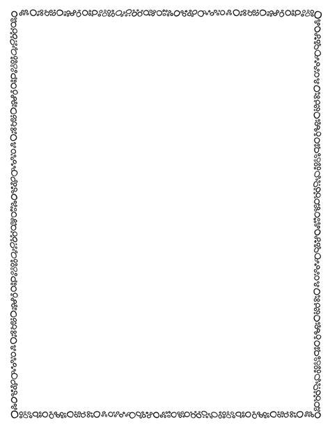 page border templates page border circles black white tim s printables