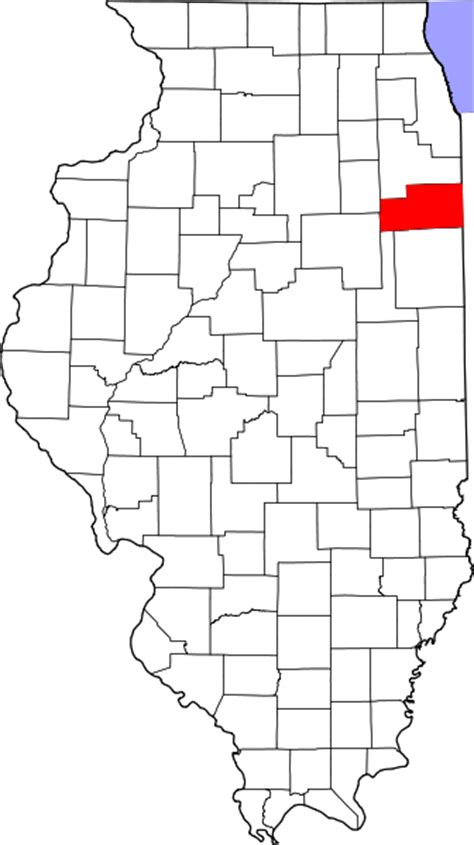 Kankakee County Search File Map Of Illinois Highlighting Kankakee County Svg