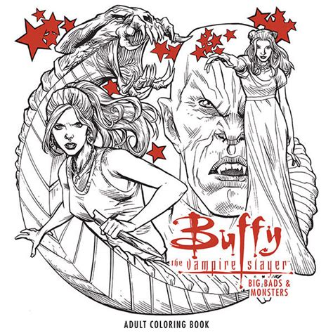 coloring book tpb buffy the slayer big bads and monsters
