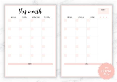 free printable planner a5 free printable irma monthly planners eliza ellis