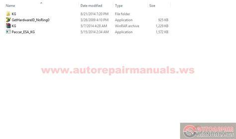 keygen autorepairmanuals ws paccar multiplexed service manuals paccar esa 4x license renewal generator auto repair manual forum heavy equipment forums