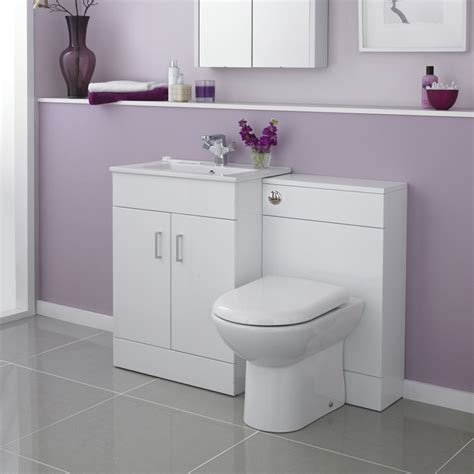 White Bathroom Vanity Units by Modena High Gloss White Vanity Unit Bathroom Suite W1100 X