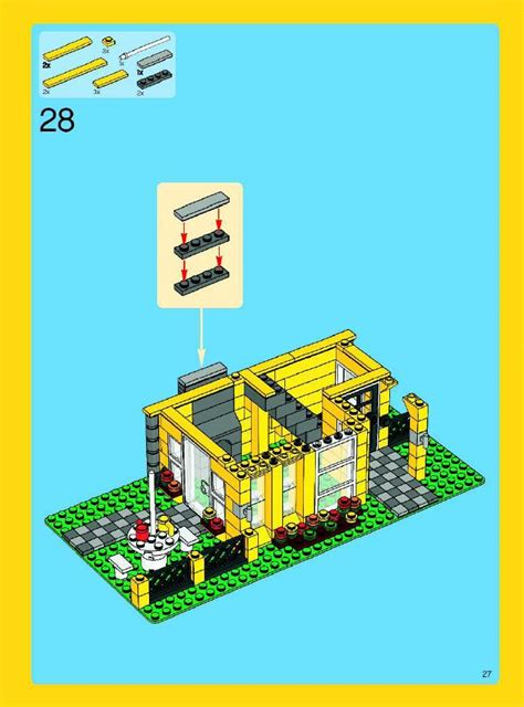 Lego Holiday House Instructions 4996 Creator Lego House 4996