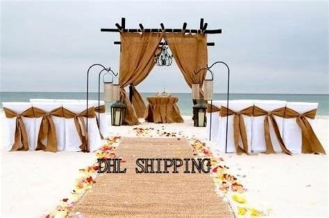 DIY Beach Wedding   4 Burlap Panels   15 Burlap Chair