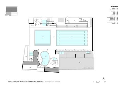 swimming pool floor plan swimming pool extension in bagneux paris