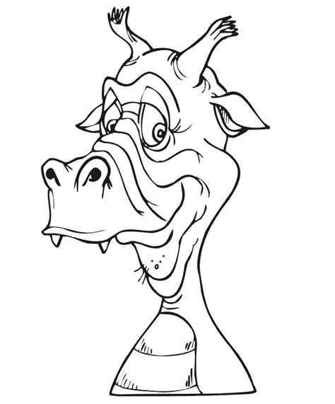 coloring pages of dragon faces dragon face coloring page coloring home