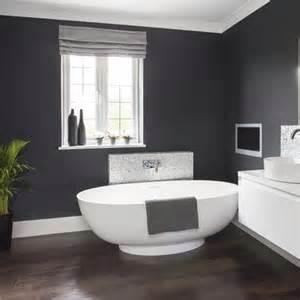 Dark grey bathroom walls dramatic dark grey bathroom