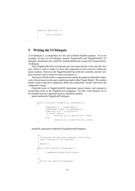 java swing mvc tutorial java swing custom gui mvc component tutorial